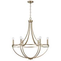 Capital Lighting 438961AD Jordyn 6 Light 30 inch Aged Brass Chandelier Ceiling Light