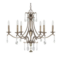 Capital Lighting Montclaire 6 Light Chandelier in Mystic 4395MY-000-CR
