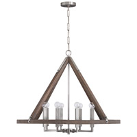 Capital Lighting 440181GN Hugo 8 Light 35 inch Grey Wash and Matte Nickel Chandelier Ceiling Light