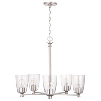 Capital Lighting 440951BN-506 Myles 5 Light 27 inch Brushed Nickel Chandelier Ceiling Light