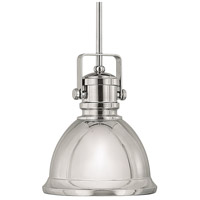 Signature 1 Light 9 inch Polished Nickel Pendant Ceiling Light