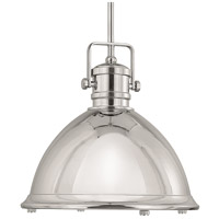 Capital Lighting Signature 1 Light Pendant in Polished Nickel 4433PN