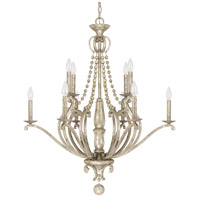 Adele 10 Light 33 inch Silver Quartz Chandelier Ceiling Light