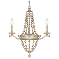 Adele 3 Light 19 inch Silver Quartz Chandelier Ceiling Light