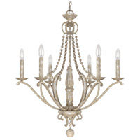 Adele 6 Light 27 inch Silver Quartz Chandelier Ceiling Light