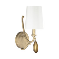Capital Lighting Quinn 1 Light Sconce in Brushed Gold 4451BG-556-CG