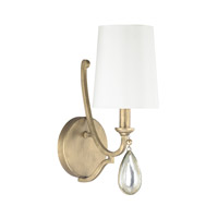 Capital Lighting Quinn 1 Light Sconce in Brushed Gold 4451BG-556-CS