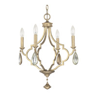 Capital Lighting Quinn 4 Light Chandelier in Brushed Gold 4454BG-000-CS