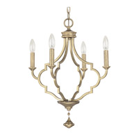 Capital Lighting Quinn 4 Light Chandelier in Brushed Gold 4454BG-000