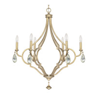 Capital Lighting Quinn 6 Light Chandelier in Brushed Gold 4456BG-000-CS