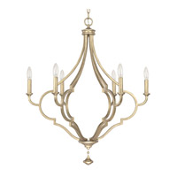 Capital Lighting Quinn 6 Light Chandelier in Brushed Gold 4456BG-000