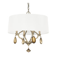 Capital Lighting Quinn 4 Light Pendant in Brushed Gold 4458BG-559-CG