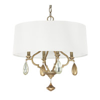 Capital Lighting Quinn 4 Light Pendant in Brushed Gold 4458BG-559-CS