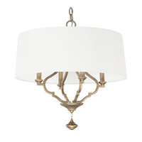 Capital Lighting Quinn 4 Light Pendant in Brushed Gold 4458BG-559