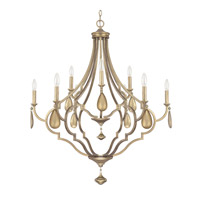 Capital Lighting Quinn 9 Light Chandelier in Brushed Gold 4459BG-000-CG