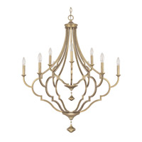 Capital Lighting Quinn 9 Light Chandelier in Brushed Gold 4459BG-000