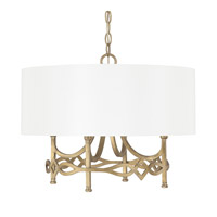 Capital Lighting Landry 4 Light Pendant in Brushed Gold 4477BG-564