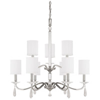 Capital Lighting Alisa 9 Light Chandelier in Polished Nickel with Crystals 4489PN-573-CR