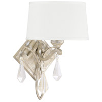 Capital Lighting Harlow 1 Light Sconce in Silver Quartz 4491SQ-570-CR