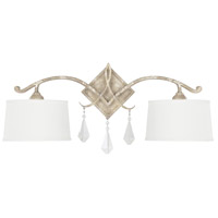 Harlow 2 Light 27 inch Silver Quartz Sconce Wall Light