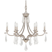 Capital Lighting Harlow 6 Light Chandelier in Silver Quartz 4496SQ-000-CR