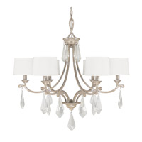 Capital Lighting Harlow 6 Light Chandelier in Silver Quartz 4496SQ-553-CR