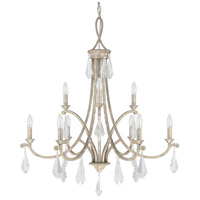 Harlow 9 Light 33 inch Silver Quartz Chandelier Ceiling Light