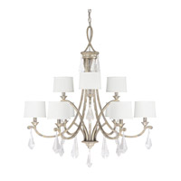 Capital Lighting Harlow 9 Light Chandelier in Silver Quartz 4499SQ-553-CR