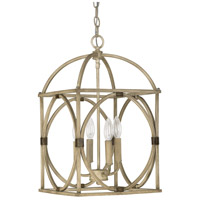 Capital Lighting Signature 4 Light Foyer Pendant in French Oak 4521FO