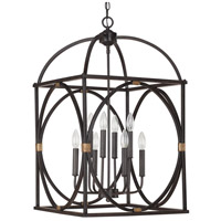 Capital Lighting 4522SY Signature 8 Light 18 inch Surrey Foyer Pendant Ceiling Light