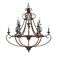 Capital Lighting Maxwell 12 Light Chandelier in Chesterfield Brown 4532CB-000