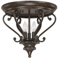 Capital Lighting 4533CB Maxwell 3 Light 15 inch Chesterfield Brown Flush Mount Ceiling Light