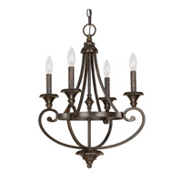 Capital Lighting Maxwell 4 Light Chandelier in Chesterfield Brown 4534CB-000