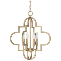 Capital Lighting 4541BG Ellis 4 Light 18 inch Brushed Gold Pendant Ceiling Light