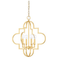 Ellis 4 Light 18 inch Capital Gold Pendant Ceiling Light