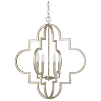 Capital Lighting Ellis 4 Light Pendant in Antique Silver 4542AS