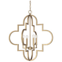 Ellis 4 Light 26 inch Brushed Gold Pendant Ceiling Light
