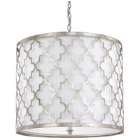 Ellis 5 Light 22 inch Antique Silver Pendant Ceiling Light