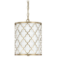 Ellis 2 Light 10 inch Brushed Gold Pendant Ceiling Light