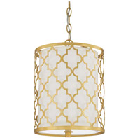 Ellis 2 Light 10 inch Capital Gold Pendant Ceiling Light