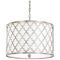 Capital Lighting 4545AS-582 Ellis 3 Light 18 inch Antique Silver Pendant Ceiling Light