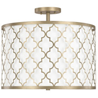 Ellis 3 Light 18 inch Brushed Gold Dual Mount Pendant Ceiling Light