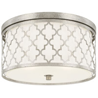 Ellis 3 Light 16 inch Antique Silver Flush Mount Ceiling Light