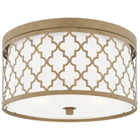 Ellis 3 Light 16 inch Brushed Gold Flush Mount Ceiling Light