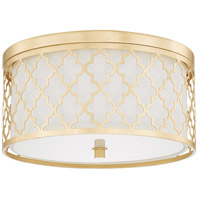 Ellis 3 Light 16 inch Capital Gold Flush Mount Ceiling Light