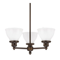 Capital Lighting Baxter 3 Light Chandelier in Burnished Bronze 4553BB-128