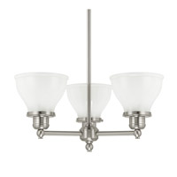 Capital Lighting Baxter 3 Light Chandelier in Brushed Nickel 4553BN-128