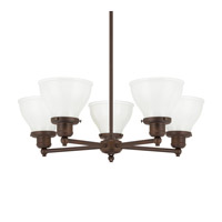 Capital Lighting Baxter 5 Light Chandelier in Burnished Bronze 4555BB-128