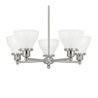 Baxter 5 Light 25 inch Brushed Nickel Chandelier Ceiling Light