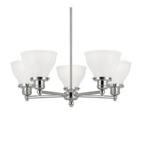 Capital Lighting Baxter 5 Light Chandelier in Polished Nickel 4555PN-128